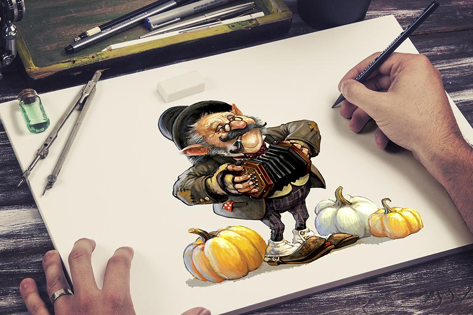 Иллюстрация, создание персонажей